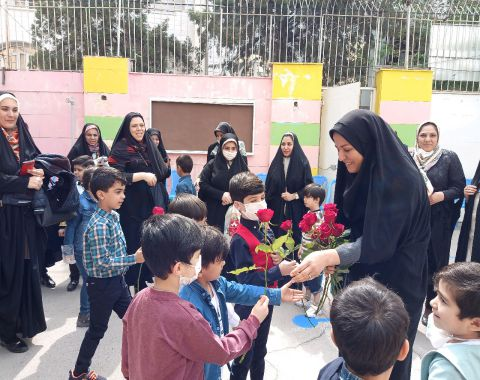 بزرگداشت مقام معلم(کلاس خانم طالبی پیش2 پسران)